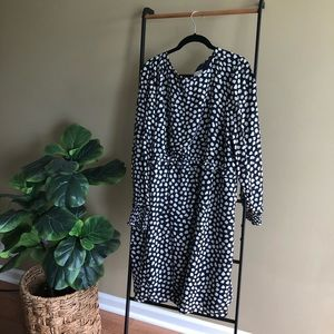 J. Crew blue and white polka dot dress